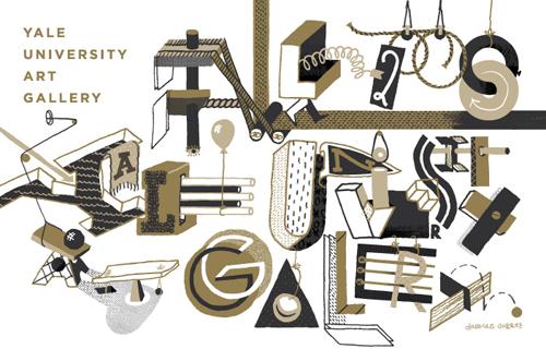Art Calendar Yale : Type get sticky with gluekit