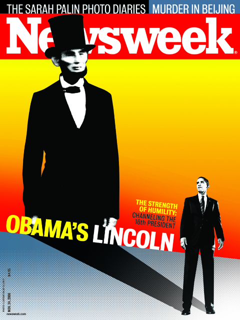 Obama's Lincoln Shadow for Newsweek / Illustration by Gluekit (2008)