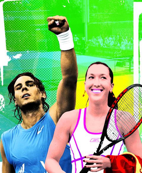 Tennis Magazine Illustration by Gluekit, 2008