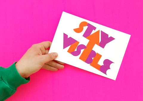Stay Visible Typography
