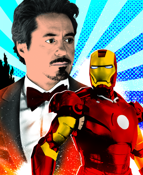 Iron Man Illustration for EW - Gluekit 2008