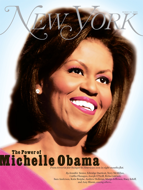 Michelle Obama New York Cover by Gluekit, 2009