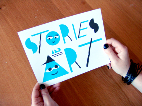 Stories and Art Postcard, 2008 by Gluekit