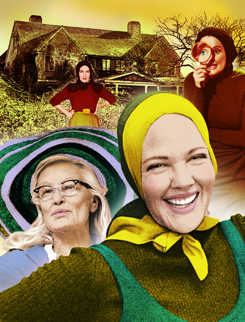 Grey Gardens illustration for Newsweek Magazine- by Gluekit, 2009