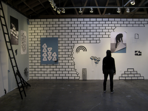 "Gluekit Wall / ""This Must Be The Place"" show curated by Faesthetic, 2009 / Scion Installation LA"