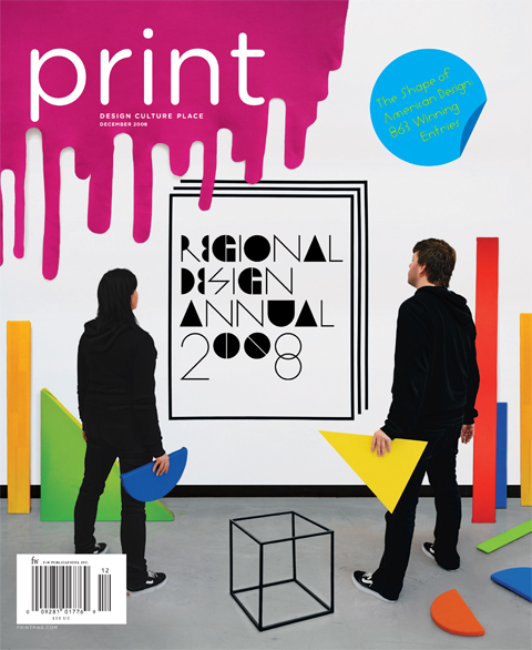 Gluekit Cover for Print Magazine - 2008 Regional Design Annual