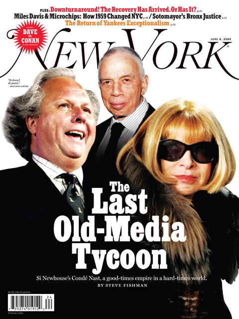 Conde Nast Cover Illustration for New York Magazine - Gluekit, 2009