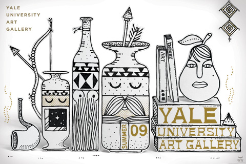 In Black and Gold: Steven Harrington 2009 Summer Yale University Art Gallery Calendar Cover