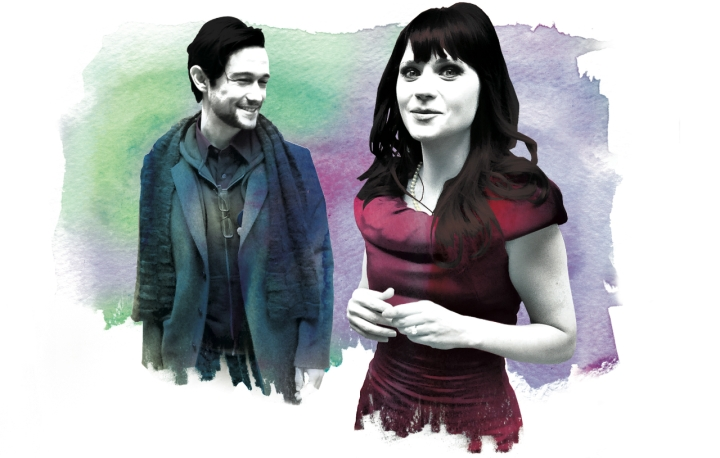 Gordon-Levitt and Zooey D. for EW - Illustration by Gluekit, 2009