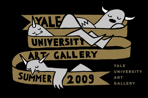 Jean Jullien's Cover for the Yale University Art Gallery Summer 2009 Calendar