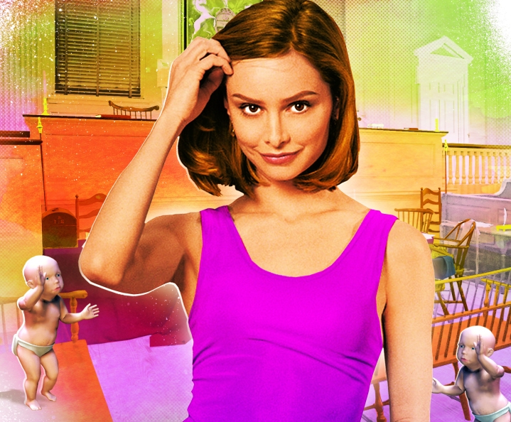 Ally McBeal Illustration by Gluekit for Entertainment Weekly Magazine, 2009