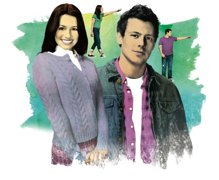 Glee illustration by Gluekit for Entertainment Weekly, 2009