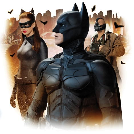 Gluekit illustration for The Dark Knight Rises, 2012 (Washington Post)
