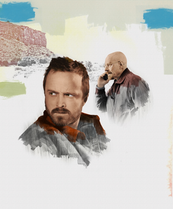 illustration, photo-illustration, Gluekit, Breaking Bad, Bryan Cranston, Aaron Paul, New York Magazine